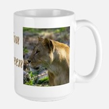 Lioness Looking Left Large Mug