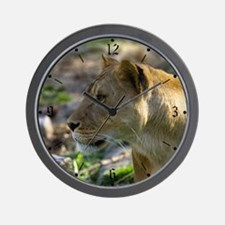 Lioness Looking Left Wall Clock