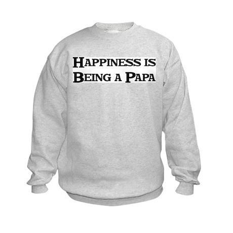 Happiness: Papa Kids Sweatshirt
