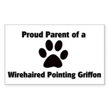 Proud: Wirehaired Pointing Gr Sticker (Rectangular