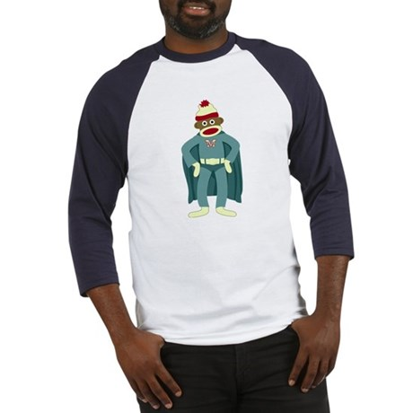 Sock Monkey Superhero Baseball Jersey