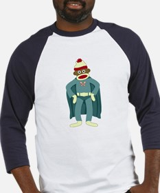 Sock Monkey Superhero Baseball Jersey