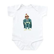 Sock Monkey Superhero Infant Bodysuit