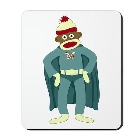 Sock Monkey Superhero Mousepad