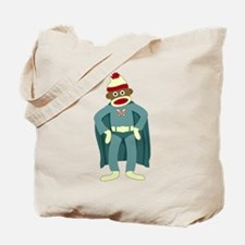 Sock Monkey Superhero Tote Bag