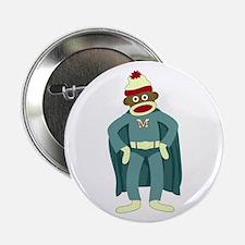 "Sock Monkey Superhero 2.25"" Button"