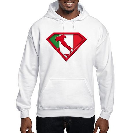 Italian superman Hooded Sweatshirt