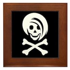 Li'l Spice Girlie Skull Framed Tile