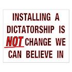 16x20 Installing a Dictatorship Poster