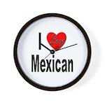 I Love Mexican Wall Clock