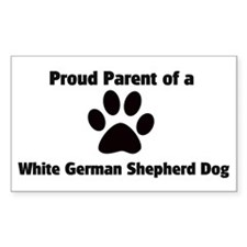 Proud: White German Shepherd Sticker (Rectangular