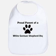 Proud: White German Shepherd  Bib