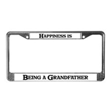 Happiness: Grandfather License Plate Frame