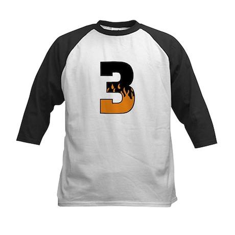 Racing Flames 3 Kids Baseball Jersey