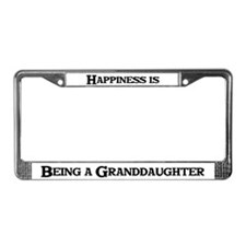 Happiness: Granddaughter License Plate Frame
