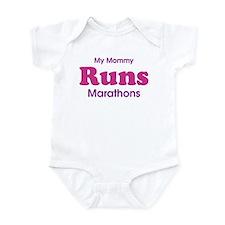 My Mommy Runs Marathons Infant Bodysuit