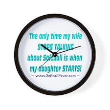 Wife Talks Wall Clock