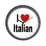 I Love Italian Wall Clock