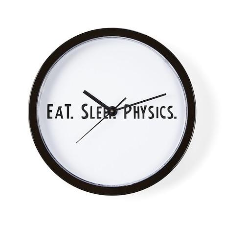 Eat, Sleep, Physics Wall Clock