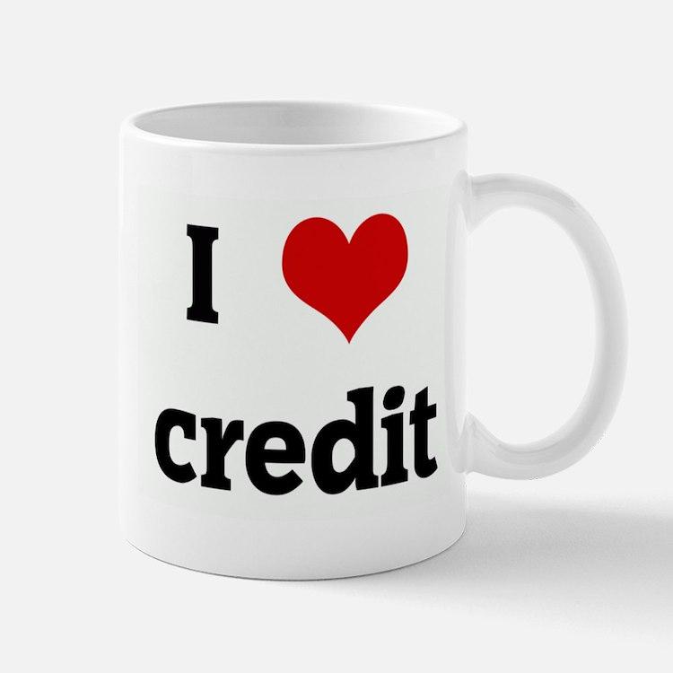 I Love credit Mug
