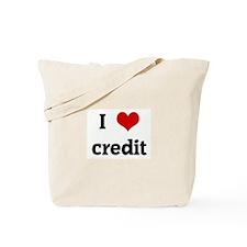 I Love credit Tote Bag