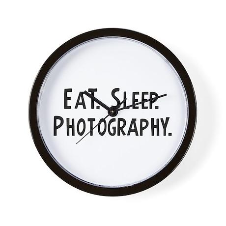 Eat, Sleep, Photography Wall Clock