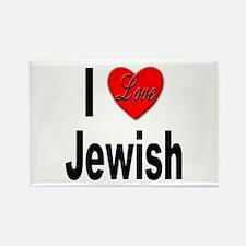 I Love Jewish Rectangle Magnet