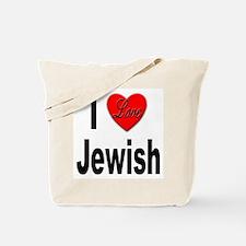 I Love Jewish Tote Bag