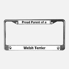 Proud: Welsh Terrier License Plate Frame