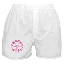 Trophy Wife since 09 in Pink Boxer Shorts