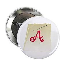 "Scarlet Letter 2.25"" Button"
