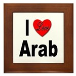 I Love Arab Framed Tile