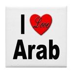 I Love Arab Tile Coaster