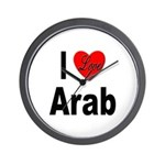 I Love Arab Wall Clock
