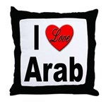 I Love Arab Throw Pillow