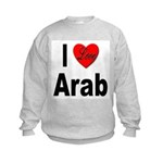 I Love Arab (Front) Kids Sweatshirt