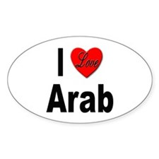I Love Arab Oval Decal