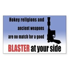 Hokey Religions vs. Blaster - Rectangle Bumper Stickers