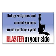 Hokey Religions vs. Blaster - Rectangle Bumper Stickers