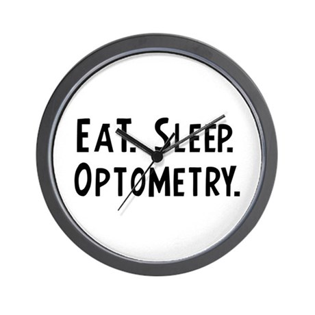 Eat, Sleep, Optometry Wall Clock