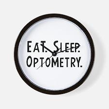 Eat, Sleep, Optometry Wall Clock