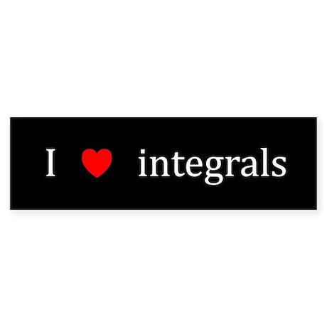 I Heart integrals Bumper Sticker