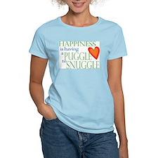 Snuggle Puggles Women's Pink T-Shirt