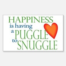 Snuggle Puggles Rectangle Decal