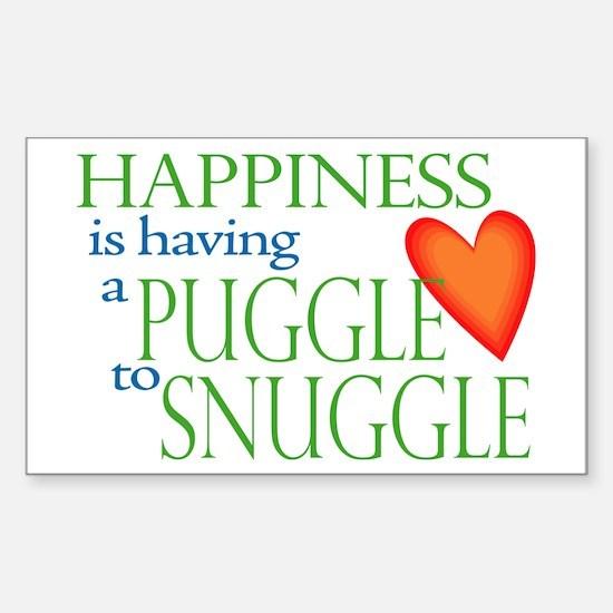 Snuggle Puggles Rectangle Decal