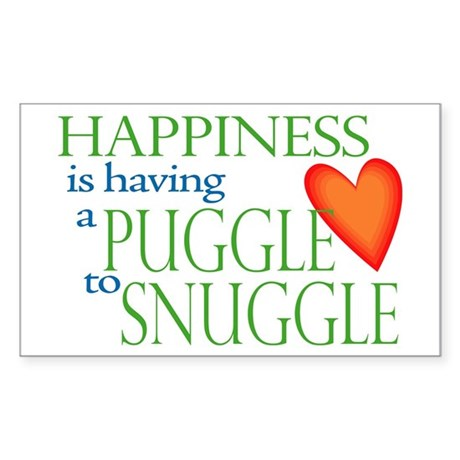 Snuggle Puggles Rectangle Sticker