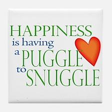 Snuggle Puggles Tile Coaster