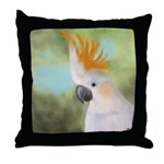 Citron Crested Cockatoo Throw Pillow