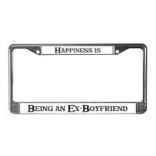 Happiness: Ex-Boyfriend License Plate Frame