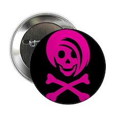 "Li'l Spice Girlie Skull 2.25"" Button"